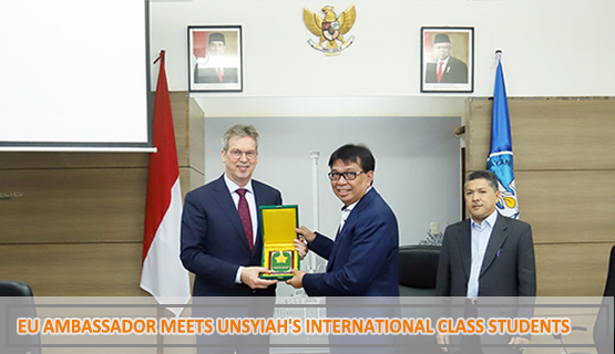 EU Ambassador Meets Unsyiah's International Class Students