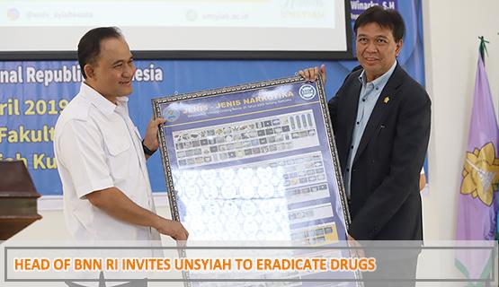 Head of BNN RI Invites Unsyiah to Eradicate Drugs