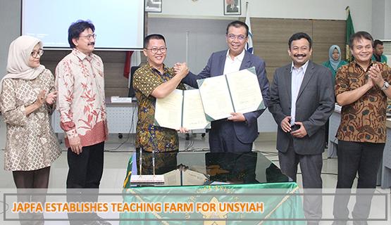 JAPFA Establishes Teaching Farm for Unsyiah