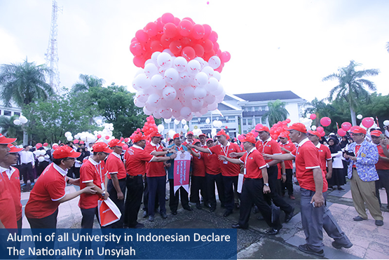 Alumni of all University in Indonesian Declare The Nationality in Unsyiah