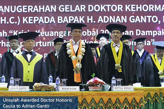 Unsyiah Awarded Doctor Honoris Causa to Adnan Ganto