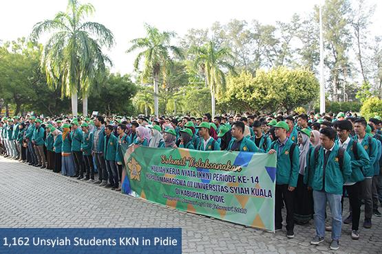 1,162 Unsyiah Students KKN in Pidie
