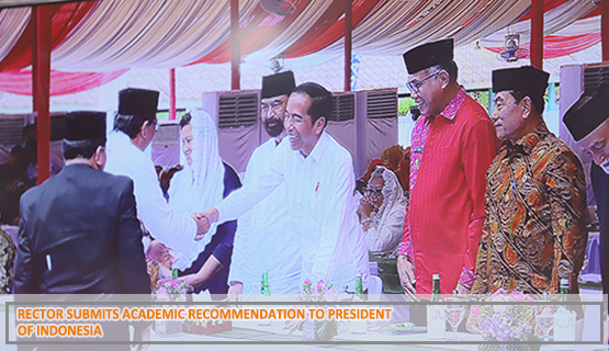 Rector Submits Academic Recommendation to President of Indonesia