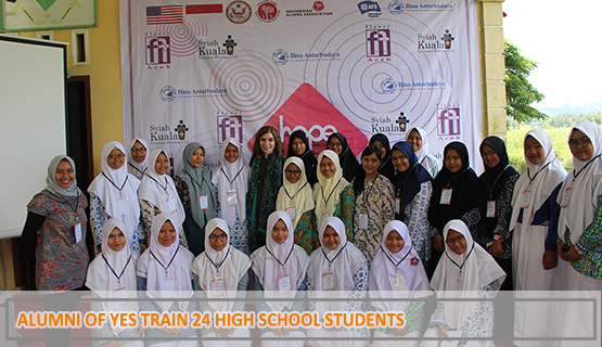 Alumni of YES Train 24 High School Students