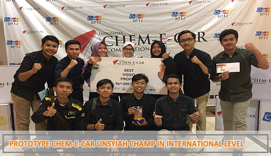 Prototype Chem-E-Car Unsyiah Champ in International Level