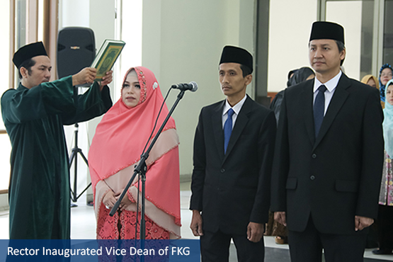 Rector Inaugurated Vice Dean of FKG