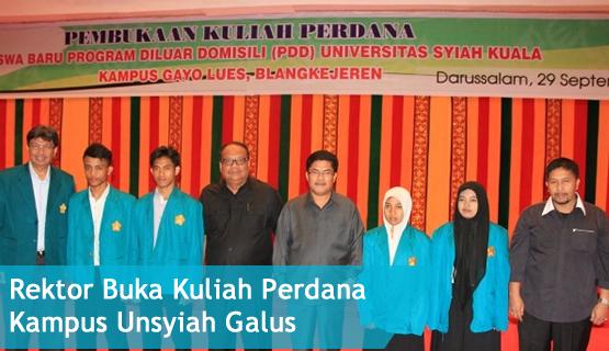 Rektor Buka Kuliah Perdana Kampus Unsyiah Galus
