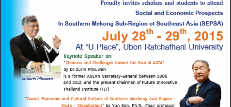 International Conference Southern Mekong Sub-Region of Southeast Asia (SEPSA)