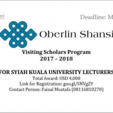 Program Oberlin Shansi Kembali Dibuka - Program Oberlin Shansi Kembali Dibuka