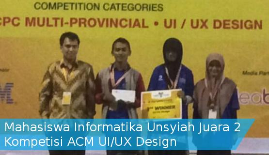 Mahasiswa Informatika Unsyiah Juara 2 Kompetisi ACM UI/UX Design