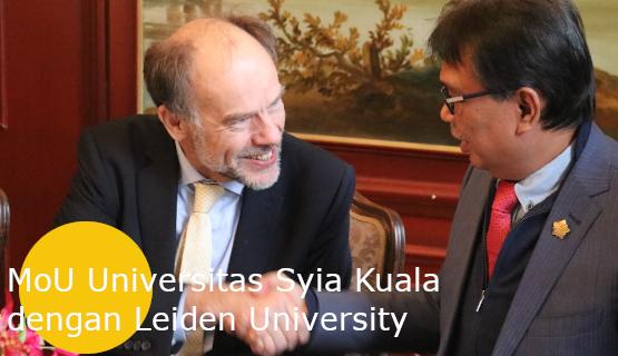 MoU Universitas Syiah Kuala dengan Leiden University