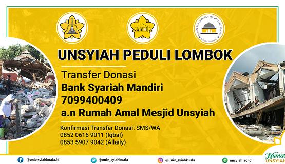 Rumah Amal Unsyiah Galang Dana untuk Lombok