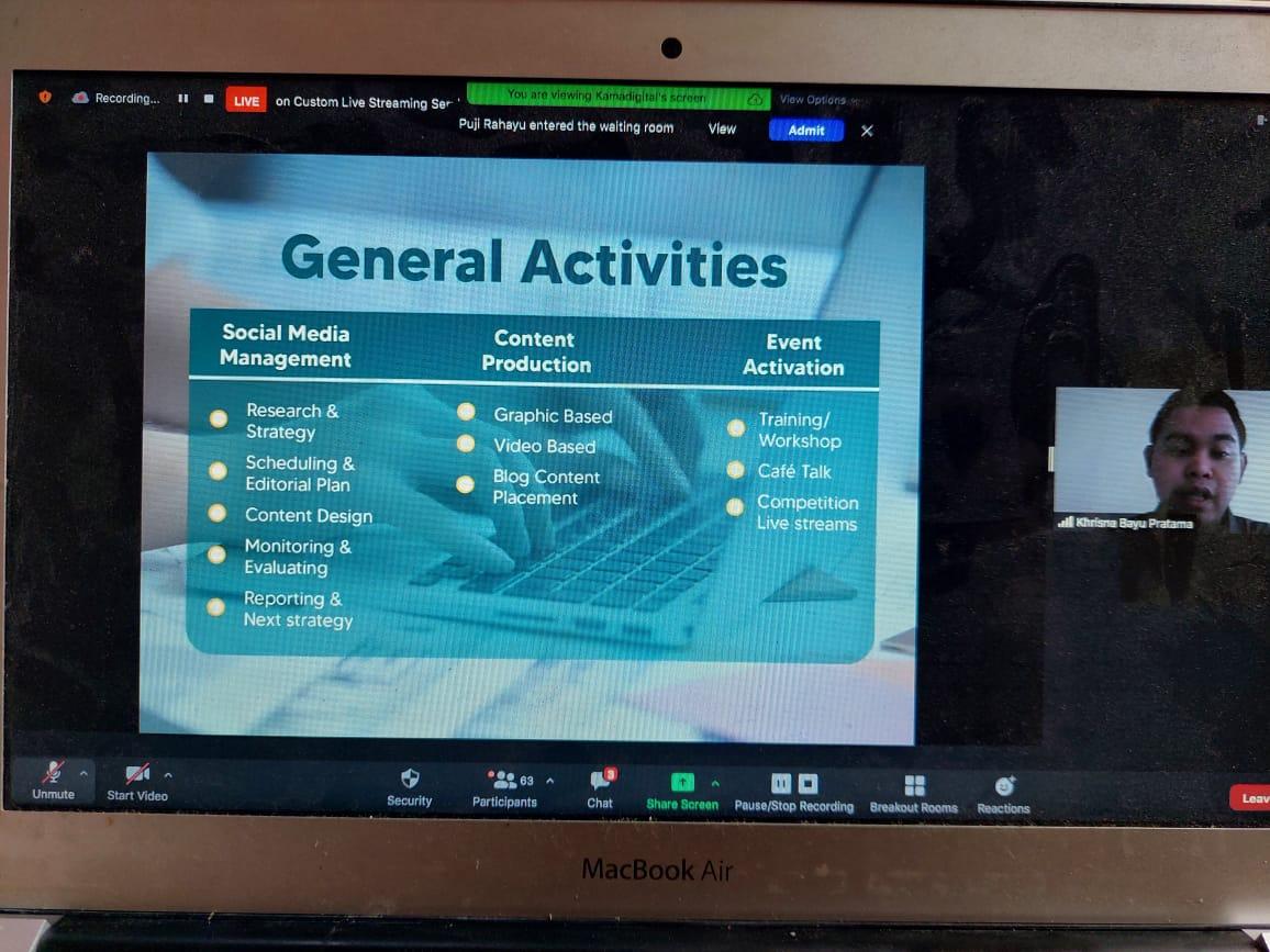 CDC Gelar Training Series Untuk Pengembangan Kompetensi Digital