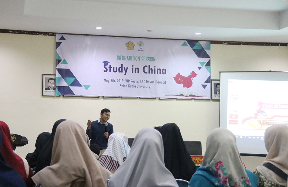 OIA Unsyiah Holds a Discussion About Study in China | Universitas