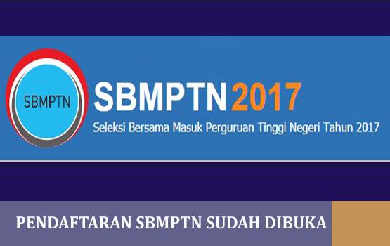 Pendaftaran SBMPTN Sudah Dibuka