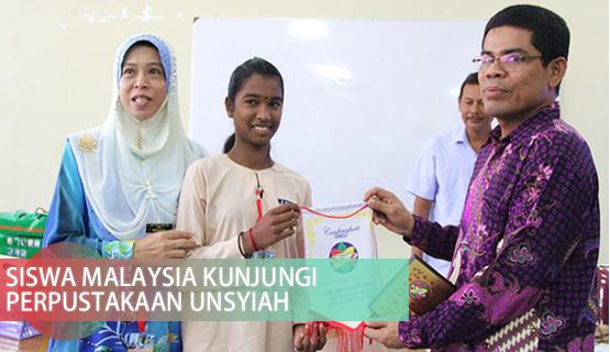 Siswa Malaysia Kunjungi Perpustakaan Unsyiah