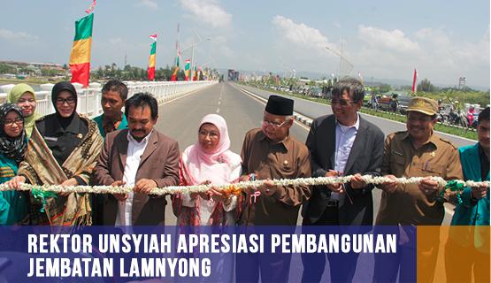 Rektor Unsyiah Apresiasi Pembangunan Jembatan Lamnyong