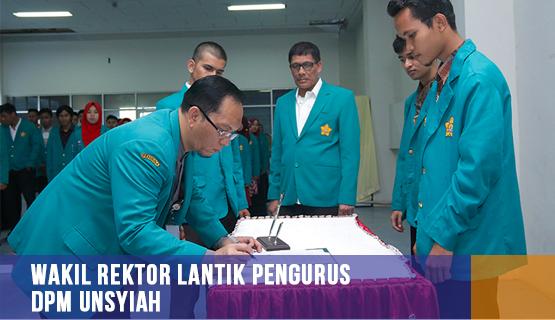 Wakil Rektor Lantik Pengurus DPM Unsyiah
