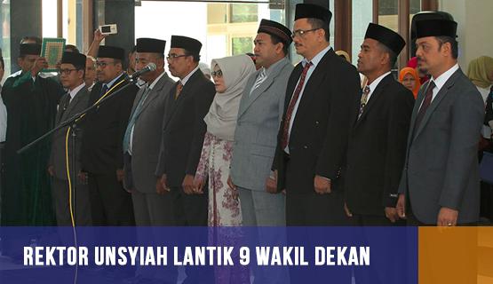 Rektor Unsyiah Lantik 9 Wakil Dekan