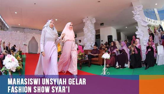 Mahasiswi Unsyiah Gelar Fashion Show Syar'i