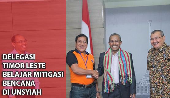 Delegasi Timor Leste Belajar Mitigasi Bencana di Unsyiah