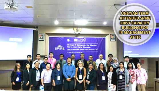 Unsyiah Team Attended SPIRE First Capacity Building for IP Management at ITS