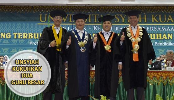 Unsyiah Kukuhkan Dua Guru Besar