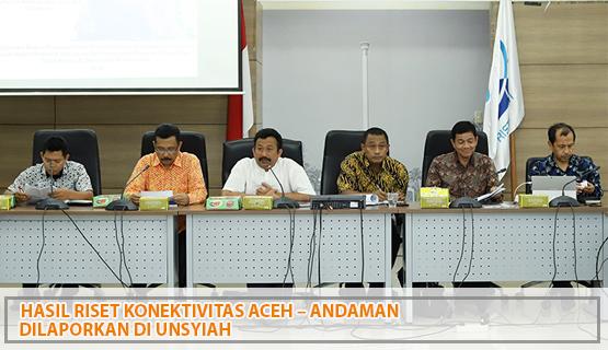 Hasil Riset Konektivitas Aceh – Andaman dilaporkan di Unsyiah