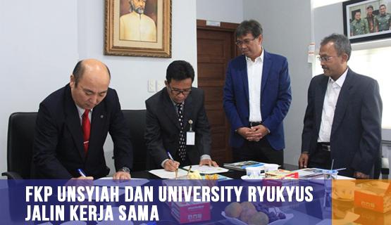 FKP Unsyiah dan University Ryukyus Jalin Kerja Sama