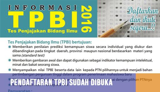 Pendaftaran TPBI Sudah Dibuka