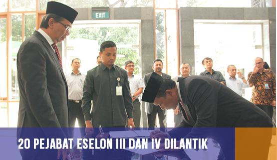 20 Pejabat Eselon III dan IV Dilantik