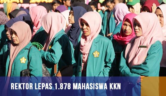 Rektor Lepas 1.878 Mahasiswa KKN