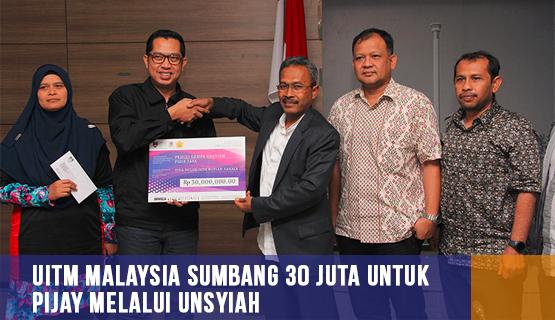 UiTM Malaysia Sumbang 30 Juta Untuk Pijay Melalui Unsyiah