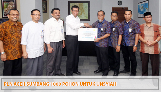 PLN Aceh Sumbang 1000 Pohon untuk Unsyiah