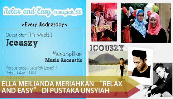 "Ella Meilianda Meriahkan ""Relax and Easy"" di Pustaka Unsyiah"