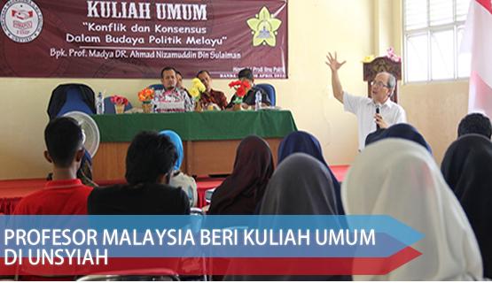 Profesor Malaysia Beri Kuliah Umum di Unsyiah