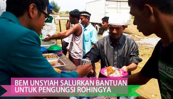 BEM Unsyiah Salurkan Bantuan untuk Pengungsi Rohingya