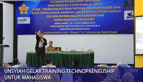 Unsyiah Gelar Training Technopreneuship untuk Mahasiswa