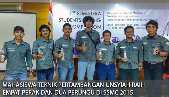 Mahasiswa Teknik Pertambangan Raih Empat Perak dan Dua Perungu di SSMC 2015