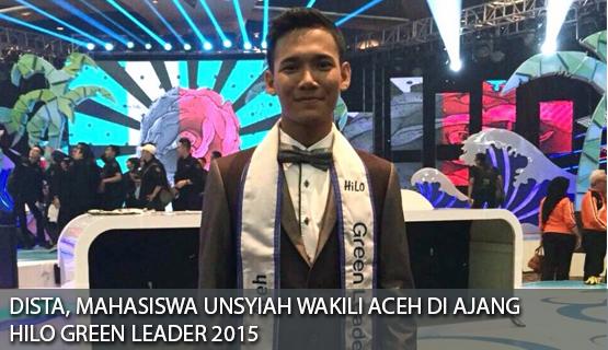 Dista, Mahasiswa Unsyiah Wakili Aceh Di Ajang Hilo Green Leader 2015