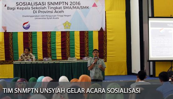 Tim SNMPTN Unsyiah Gelar Acara Sosialisasi