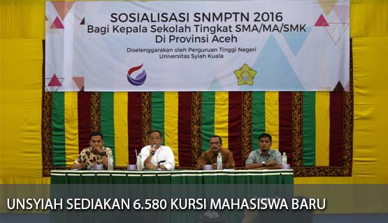 Unsyiah Sediakan 6.580 Kursi Mahasiswa Baru