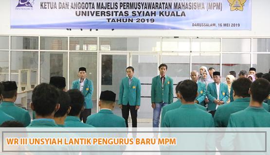 WR III Unsyiah Lantik Pengurus Baru MPM