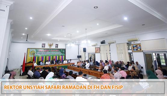 Rektor Unsyiah Safari Ramadan di FH dan FISIP