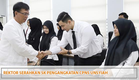 Rektor Serahkan SK Pengangkatan CPNS Unsyiah