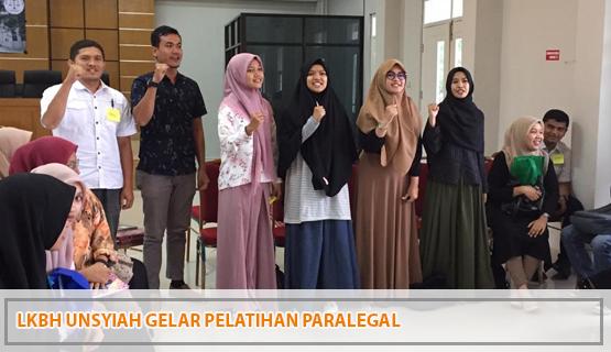 LKBH Unsyiah Gelar Pelatihan Paralegal