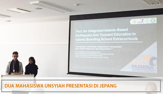 Dua Mahasiswa Unsyiah Presentasi di Jepang