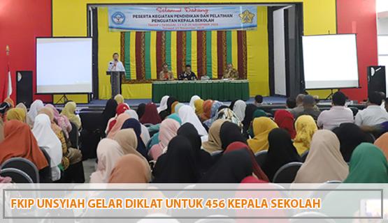 FKIP Unsyiah Gelar Diklat untuk 456 Kepala Sekolah