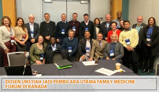 Dosen Unsyiah Jadi Pembicara Utama Family Medicine Forum di Kanada