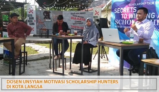 Dosen Unsyiah Motivasi Scholarship Hunters di Kota Langsa